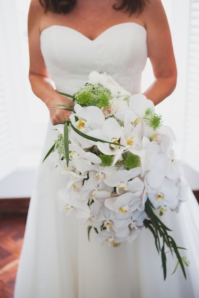 Bridal Bouquet - Cascading with Orchids