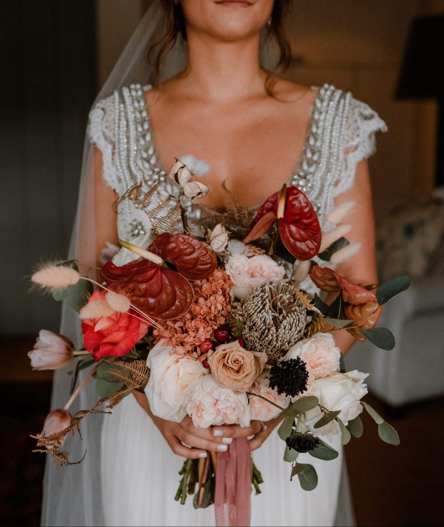 Bridal Bouquet - Hand-Tied Flower Heavy